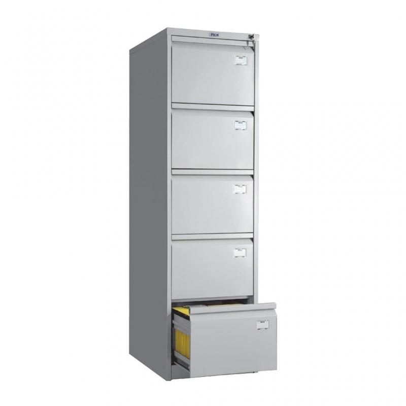 Шкаф картотечный металлический Практик AFC-05