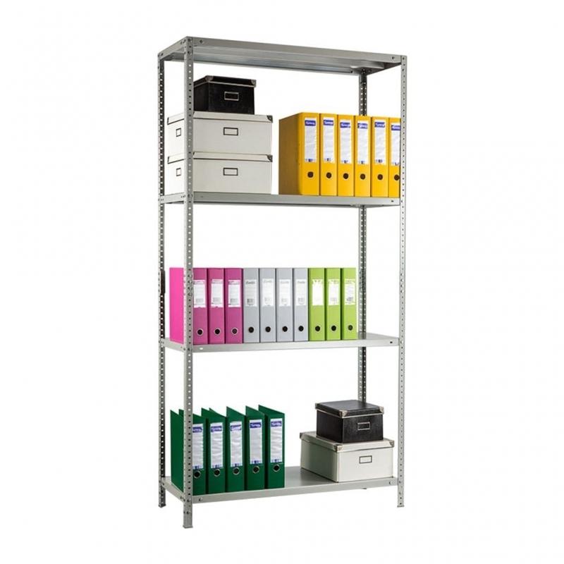 Стеллаж металлический MS Standart 100 кг 4 полки (1600 Х 700 Х 400) -