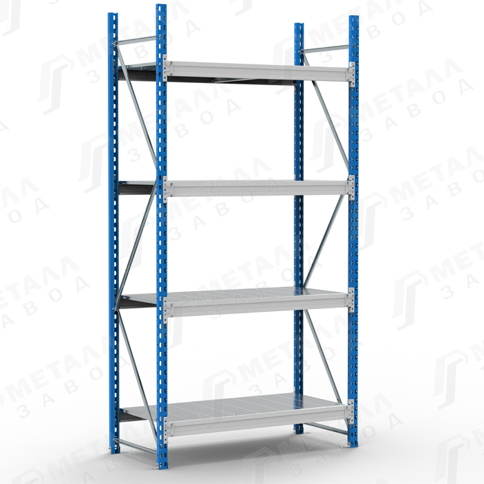Стеллаж металлический SGR 21104-2,5 500 кг 4 полки (2500 Х 2100 Х 1000)