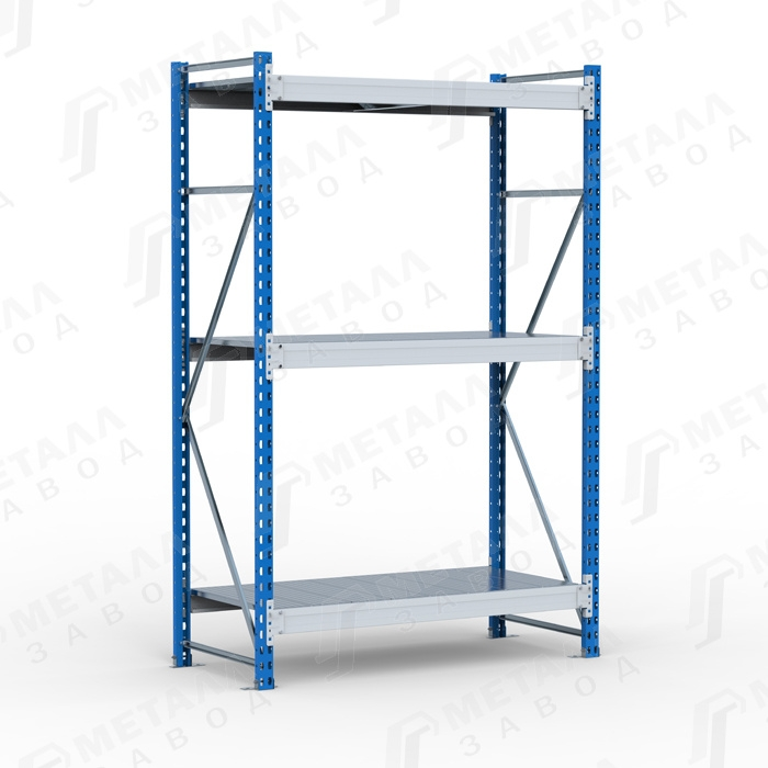 Стеллаж металлический SGR 2163-2,0 500 кг 3 полки (2000 Х 2100 Х 600)