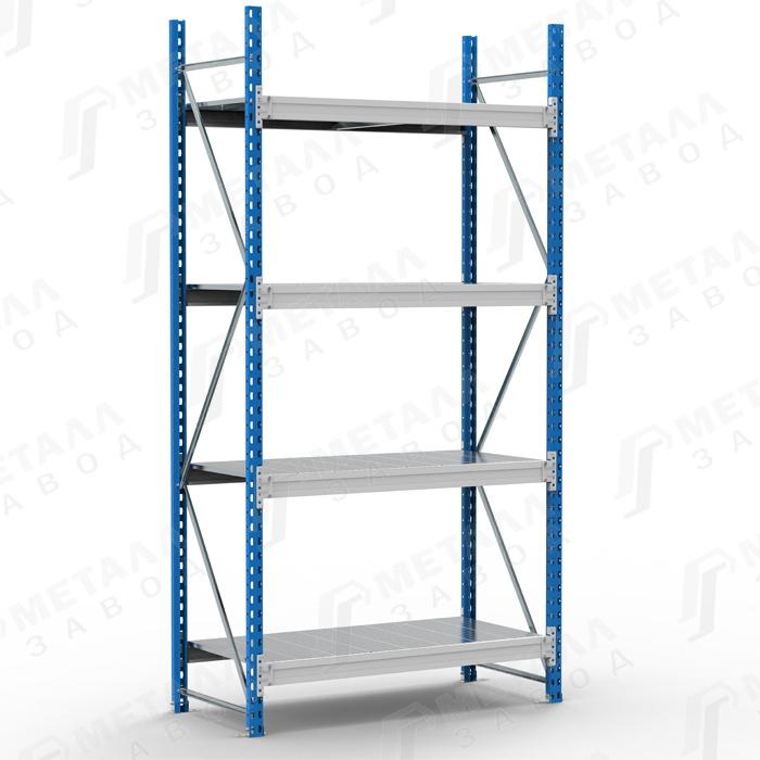 Стеллаж металлический SGR 2184-2,5 500 кг 4 полки (2500 Х 2100 Х 800)