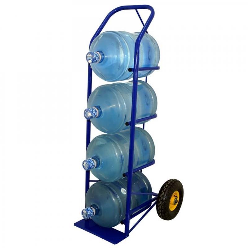 Тележка для бутилированной воды 19 литров ВД-4 с литыми колесами d 250 мм