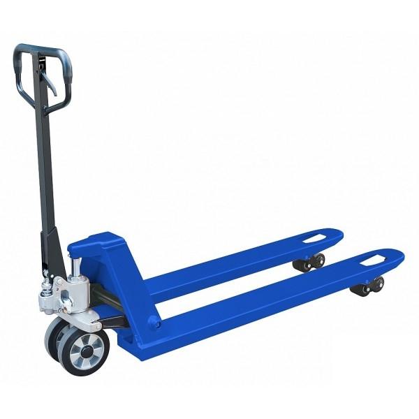 Тележка гидравлическая PROLIFT 2500 кг, AC 25, 1800х550мм, полир.колесо, дв.полиур.ролик