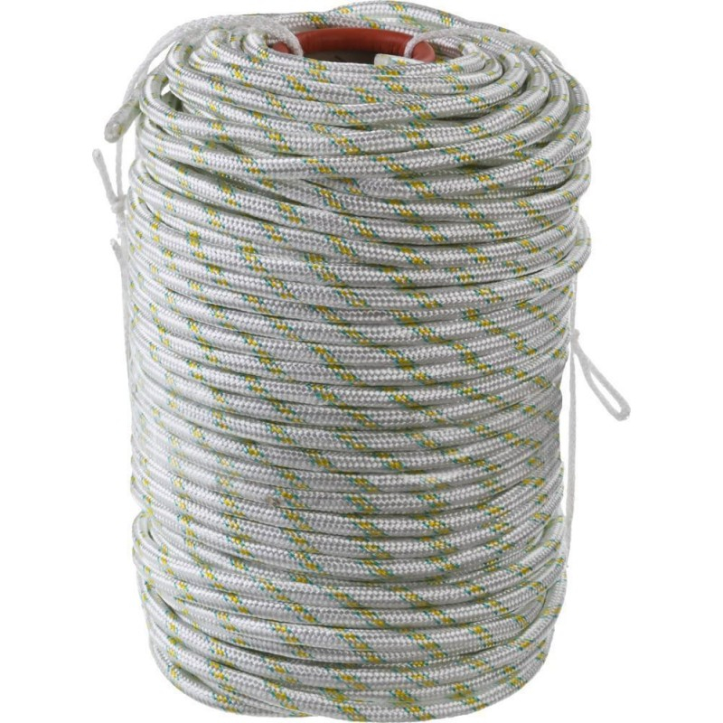Веревка ПА плетеная 24-х пр. с ПА серд. d 10мм (15,4 метра в 1 кг)