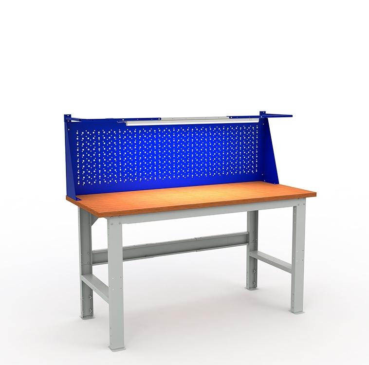 Верстак металлический EXPERT W160 с экраном и освещением