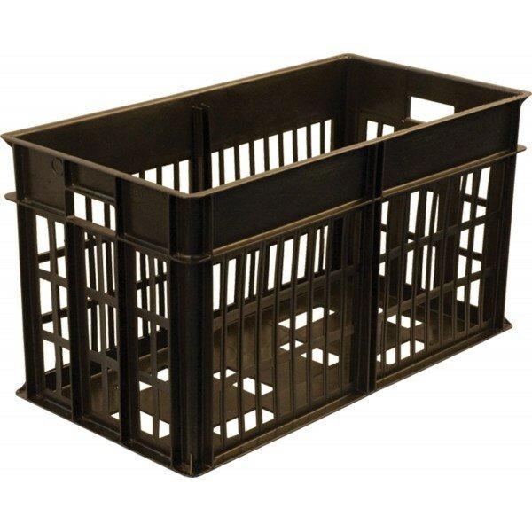Ящик под яйцо 301 черный решетчатый 660х340х360