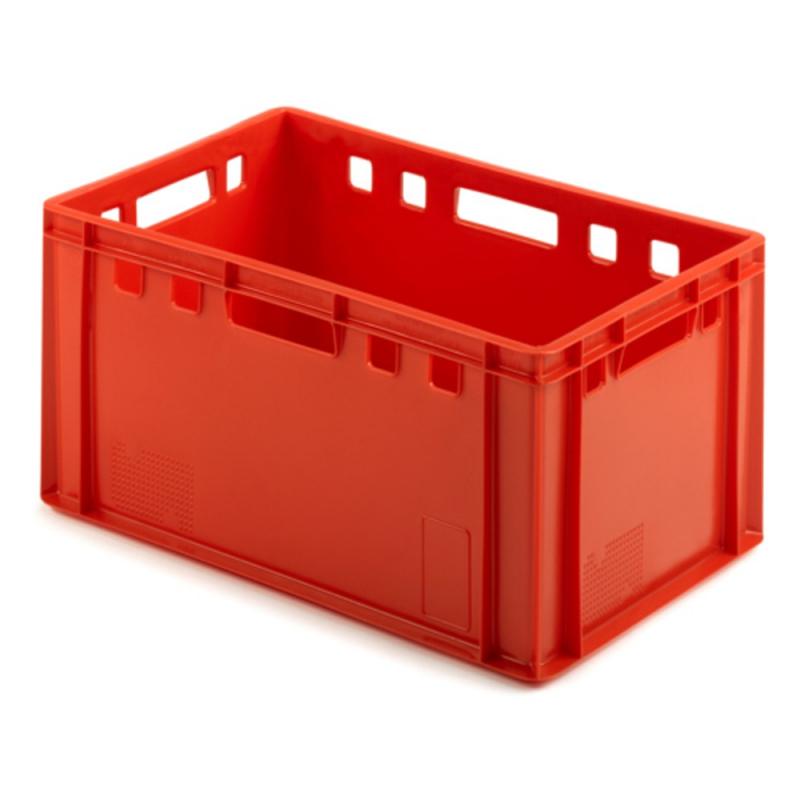 Ящик рыбный 210 сплошной 600х400х300 красный
